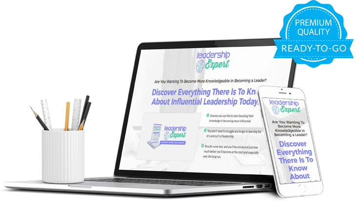 Leadership Influence Ready-To-Go Sales Letter, Thank You Page and Legal Pages