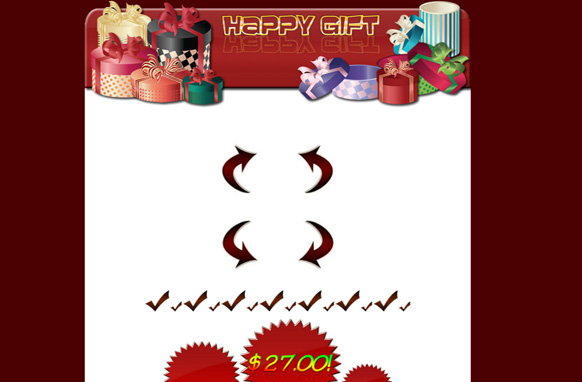 Happy Gift HTML Template