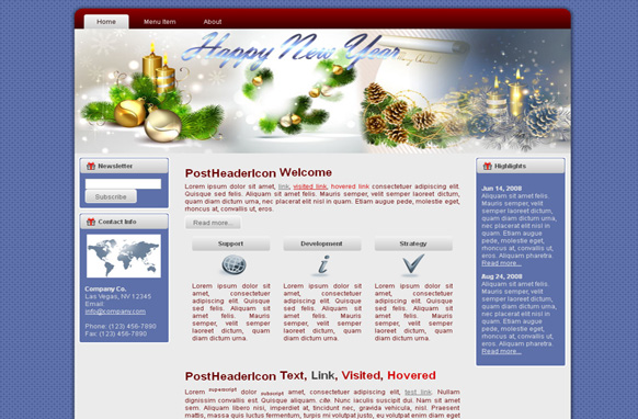 Happy New Year HTML Template Edition 2
