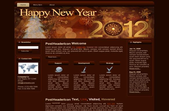 Happy New Year WP Theme Edition 1