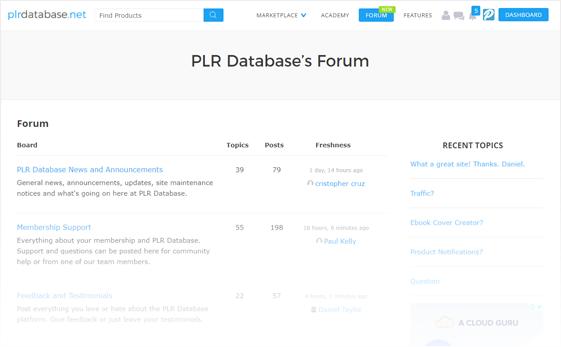 PLR Database PLR Forum